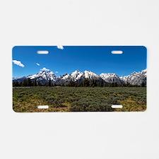 Grand Teton Scenic View Aluminum License Plate