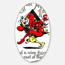 Vintage Jester Fool April Fools Day Decal