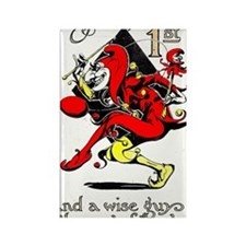 Vintage Jester Fool April Fools D Rectangle Magnet