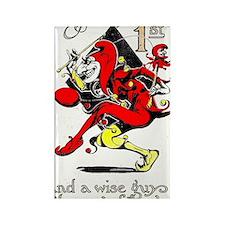 Vintage Jester Fool April Fools D Rectangle Magnet