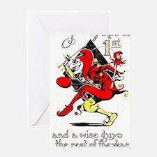 Vintage Jester Fool April Fools Day  Greeting Card