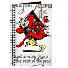 Vintage Jester Fool April Fools Day April  Journal