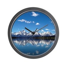 GRAND TETON - JACKSON LAKE Wall Clock