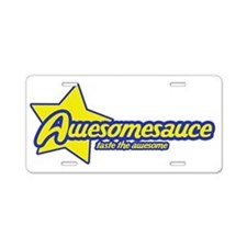 Awesome sauce Aluminum License Plate