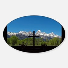 Chapel View of the Grand Tetons Decal