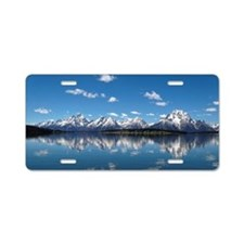 GRAND TETON - JACKSON LAKE Aluminum License Plate