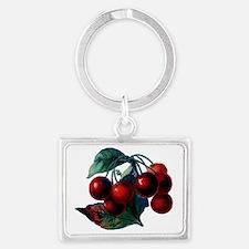Vintage Cherry Big Red Juicy Ch Landscape Keychain