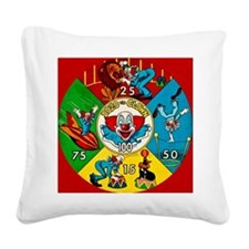 Vintage Toy Clown Cartoon Tar Square Canvas Pillow