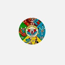 Vintage Toy Clown Cartoon Target Game Mini Button