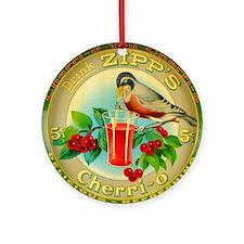 Vintage Bird Cherry Soda Advertisin Round Ornament