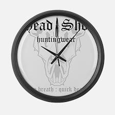 HeadShot Huntingwear Deep Breath Large Wall Clock