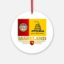 Maryland Gadsden Flag Round Ornament