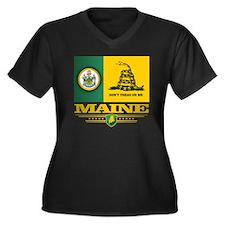 Maine Gadsde Women's Plus Size Dark V-Neck T-Shirt