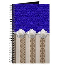 Vintage Blue Wallpaper and Pearls Journal