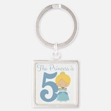 Thre Princess is 5 Square Keychain