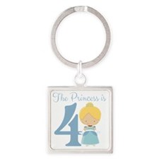 The Princess is 4 Square Keychain