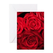 Red Roses Floral Greeting Card