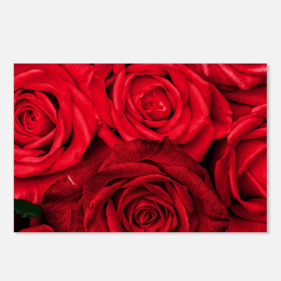 Red Roses Floral Postcards (Package of 8)