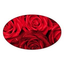 Red Roses Floral Decal