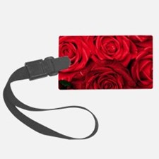 Red Roses Floral Luggage Tag