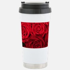 Red Roses Floral Travel Mug
