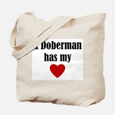 A Doberman Has My Heart Tote Bag