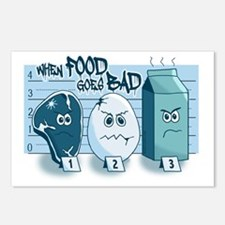 When Food Goes Bad Police Postcards (Package of 8)