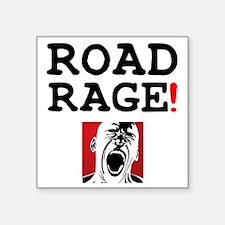 """ROAD RAGE! Square Sticker 3"""" x 3"""""""