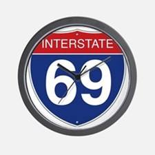 Interstate 69 Wall Clock