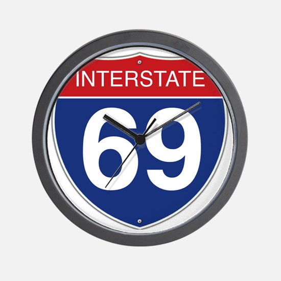 Interstate 69 Wall Clock