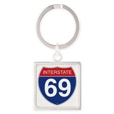 Interstate 69 Square Keychain