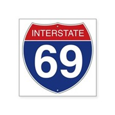 "Interstate 69 Square Sticker 3"" x 3"""