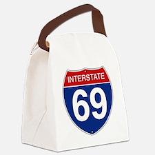 Interstate 69 Canvas Lunch Bag