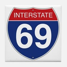 Interstate 69 Tile Coaster