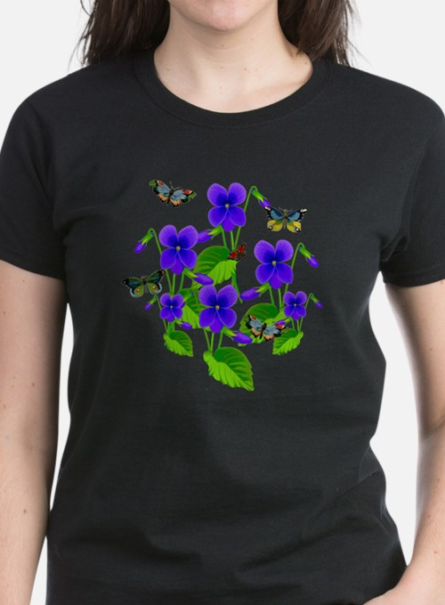 Violets and Butterflies Tee