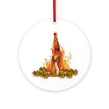 Fiery Snake Woman Round Ornament