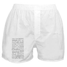 Positive Thoughts Boxer Shorts