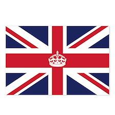 Royal British Flag Postcards (Package of 8)