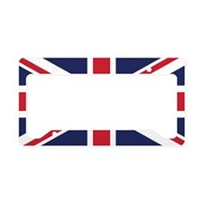 Royal British Flag License Plate Holder