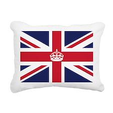 Royal British Flag Rectangular Canvas Pillow