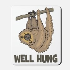 The Well Hung Sloth Mousepad