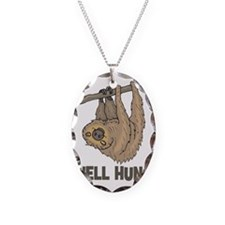 The Well Hung Sloth Necklace Oval Charm