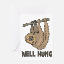The Well Hung Sloth Greeting Card