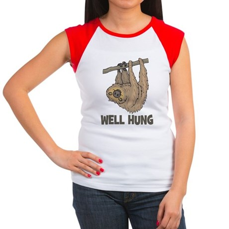 The Well Hung Sloth Women's Cap Sleeve T-Shirt