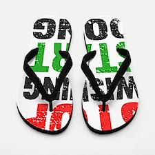 Stop Wishing Start Doing   Retro   Fitn Flip Flops