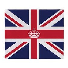 Royal British Flag Throw Blanket