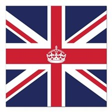"Royal British Flag Square Car Magnet 3"" x 3"""