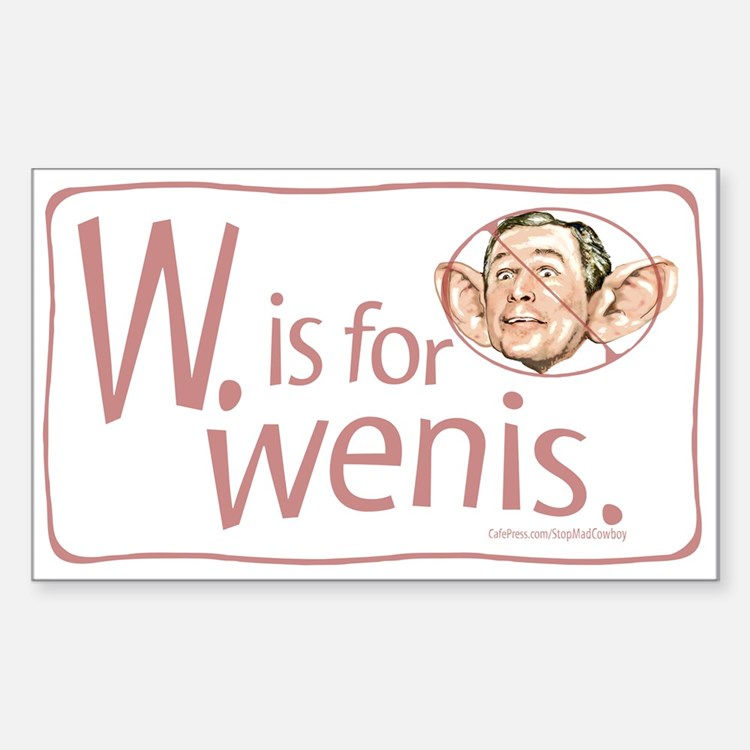 W. is for wenis Rectangle Decal