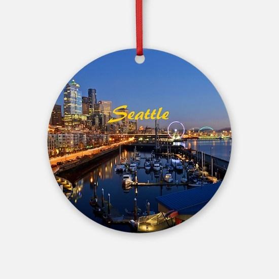 Seattle_8.56x7.91_GelMousepad_Seatt Round Ornament