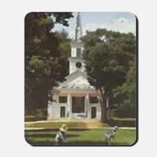 colored pencil Center Meeting House Mousepad